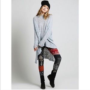 Free People Patchwork Sweater Leggings M